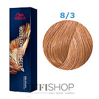 Краска для волос Wella Koleston Perfect № 8/3 (золотистый светлый блондин) - rich naturals