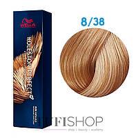 Краска для волос Wella Koleston Perfect № 8/38 (светлый блонд золотой жемчуг)