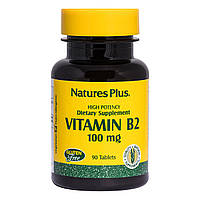 Рибофлавин, B-2, Nature's Plus, 100 мг, 90 Таблеток