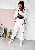 Костюм женский, стильный, белый,  505-71690