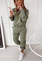 Костюм женский, стильный, цвет хаки,  505-71692