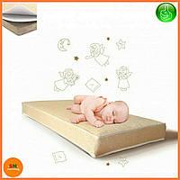 """Матрас детский для кроваток """"LUX BABY LATEX LUX 2в1"""", размер 120*60*12см + наматрасник в подарок"""