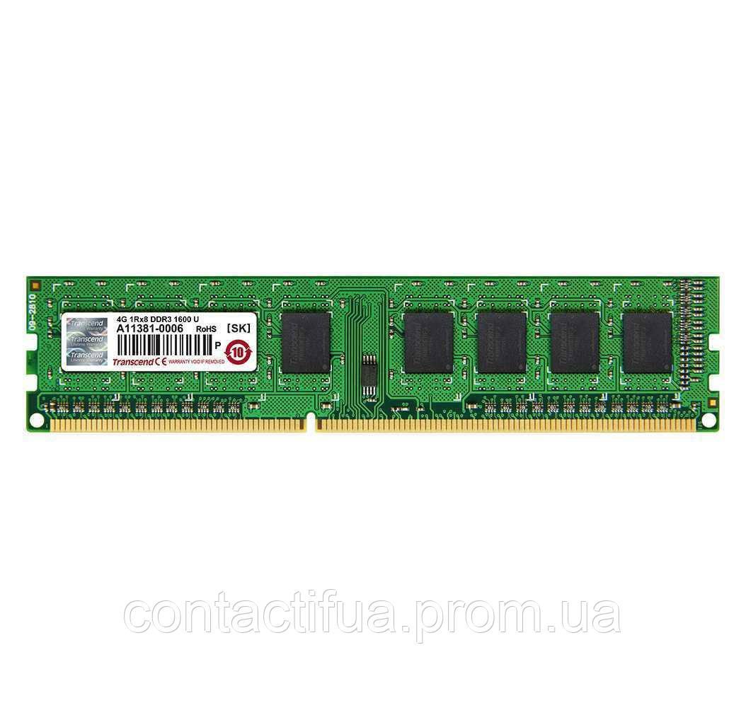 Оперативна пам'ять Transcend DDR3 4Gb 1333MHz PC3-10600 (JM1333KLN-4G)