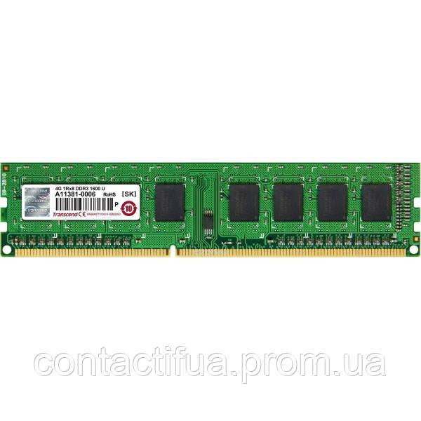 Оперативна пам'ять Transcend DDR3 4Gb 1600MHz PC3-12800 (JM1600KLH-4G)