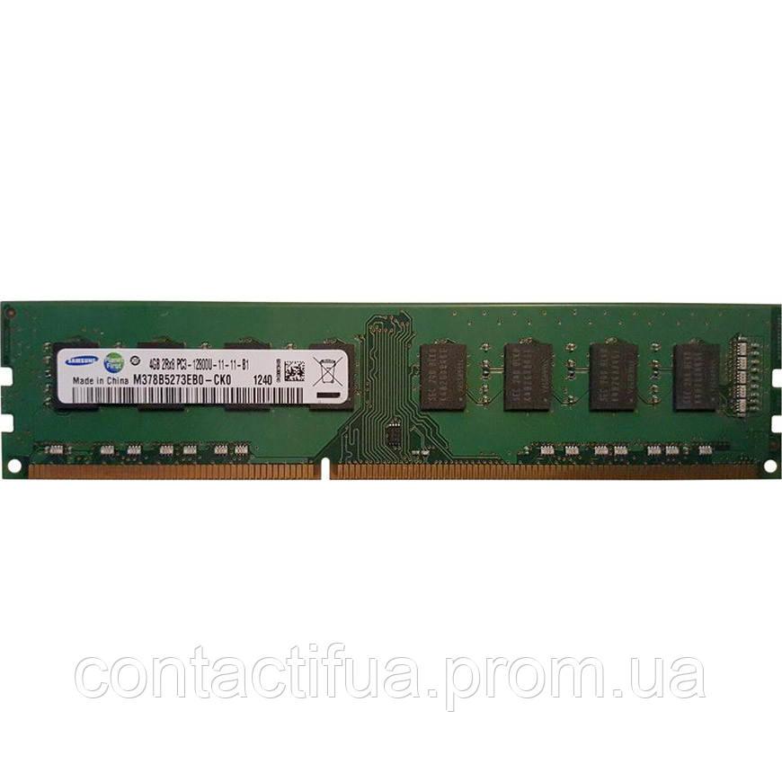 Оперативна пам'ять Samsung DDR3 4Gb 1600MHz PC3-12800 (M378B5273EB0-CK