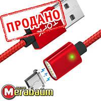 Магнитный Кабель TOPK F-Line Micro USB 1м Cable Red