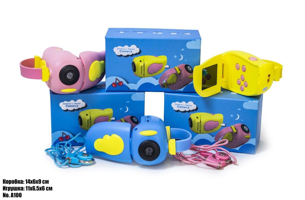 Детская видеокамера A100 голубая