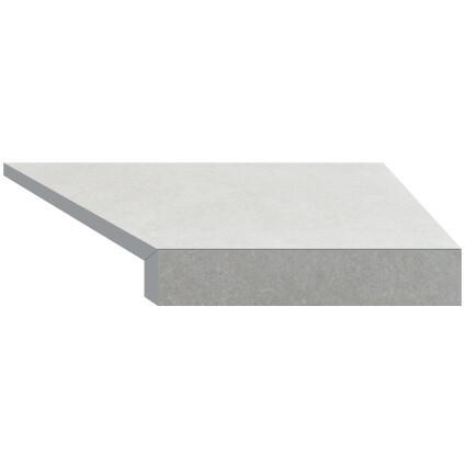 Aquaviva Угловой элемент бортовой плитки Aquaviva Granito light gray, Г-образный, 595x345x50(20) правая/45°