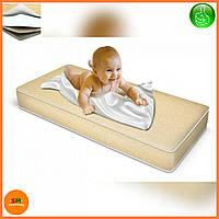 """Матрас детский для кроваток """"LUX BABY JUNIOR"""" лен, размер 120*60*10см + наматрасник в подарок"""