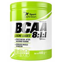 BCAA Sport Definition BCAA Leucine Loaded 8:1:1, 400 грамм Яблоко-малина