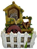Фонтан домик с мельницей