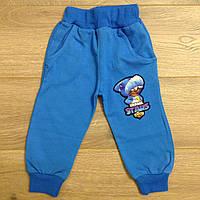 """Спортивные штаны детские для мальчикана манжетах """"Brawl Stars"""" 1-4 года, светло-синего цвета"""