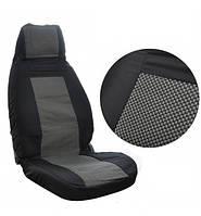 Чехлы модельные сидения ВАЗ 2107 черно-серые (шахматка) Tuning NEW