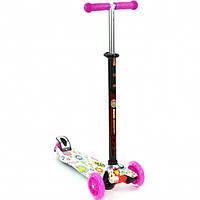 Детский Самокат для детей от 2х лет 3-х колесный, свет. колеса, ABEC-7, руль 63-86 см, Best Scooter, арт. 1309