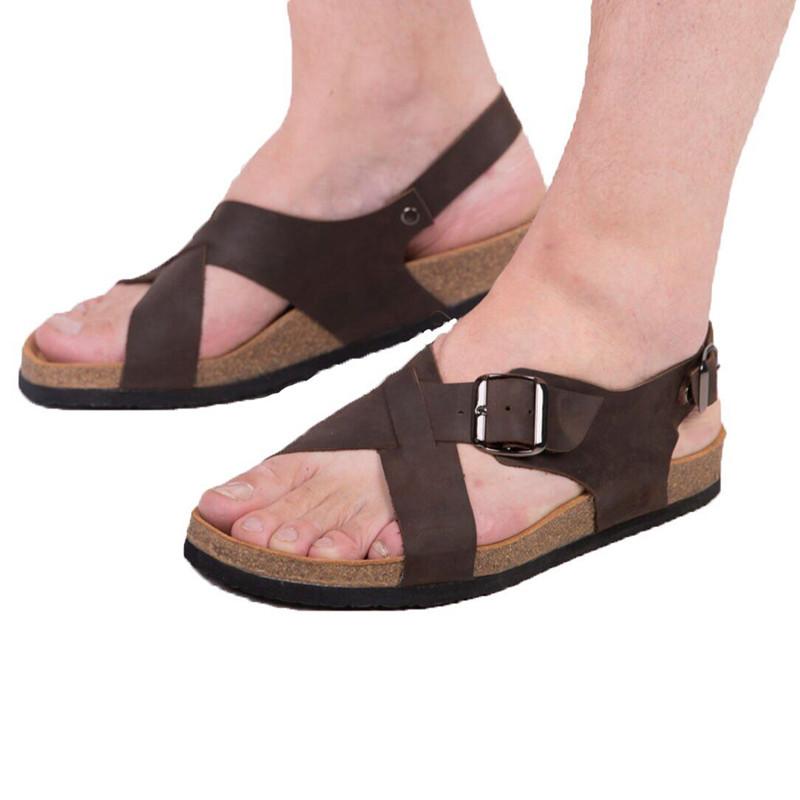 Сандалии анатомические размер 46 коричневые, кожа Foot Care (FA-102)