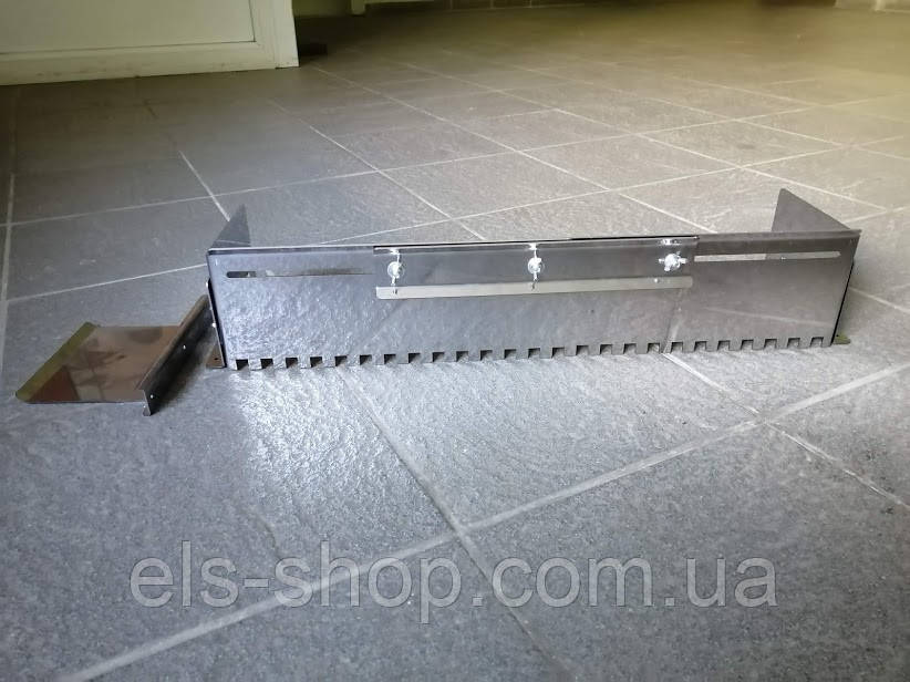 Гребінка-трансформер універсальна для укладання плитки нержавіюча сталь (зуб 12х12мм)