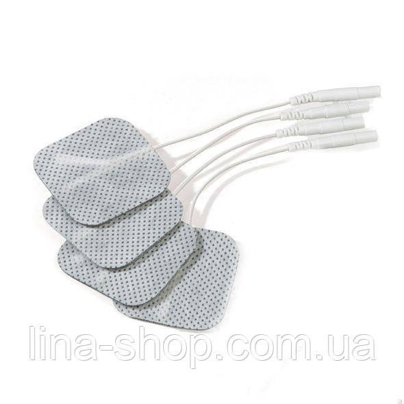 Самоклеющиеся электроды Mystim (4 шт) для электростимуляции, проводные