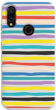 Чохол-накладка TOTO Pure TPU 2mm Print Case Xiaomi Redmi 7 #19 Stroke White #I/S, фото 2