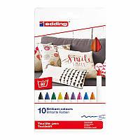 Набор маркеров для рисования на текстиле textile classic 4600 10 цветов edding 42516