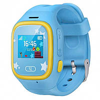 Детские оригинальные GPS часы-телефон JETIX Tiny 2 Kid с виброзвонком Blue (tiny02)