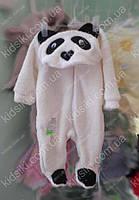 Детский флисовый комбинезон человечек Панда