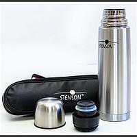 Термос Stenson MT-0179 500мл из нержавеющей стали с чехлом Серый