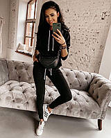 Костюм женский, стильный, черный,  505-71695