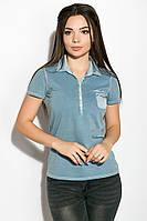 Поло женское 516F439-1 цвет Сизый варенка