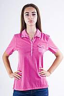 Поло женское 516F439-1 цвет Розовый варенка