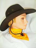 Шляпа Ковбоя замшевая, шляпа Ковбойская коричневая
