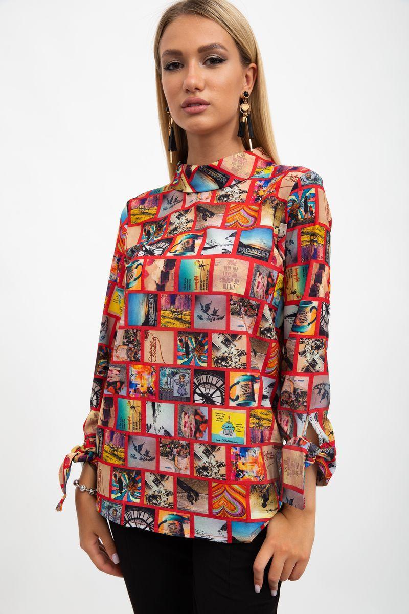 Блуза женская 115R263-3 цвет Красный