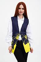 Жилет женский 115R253F цвет Сине-желтый, фото 1
