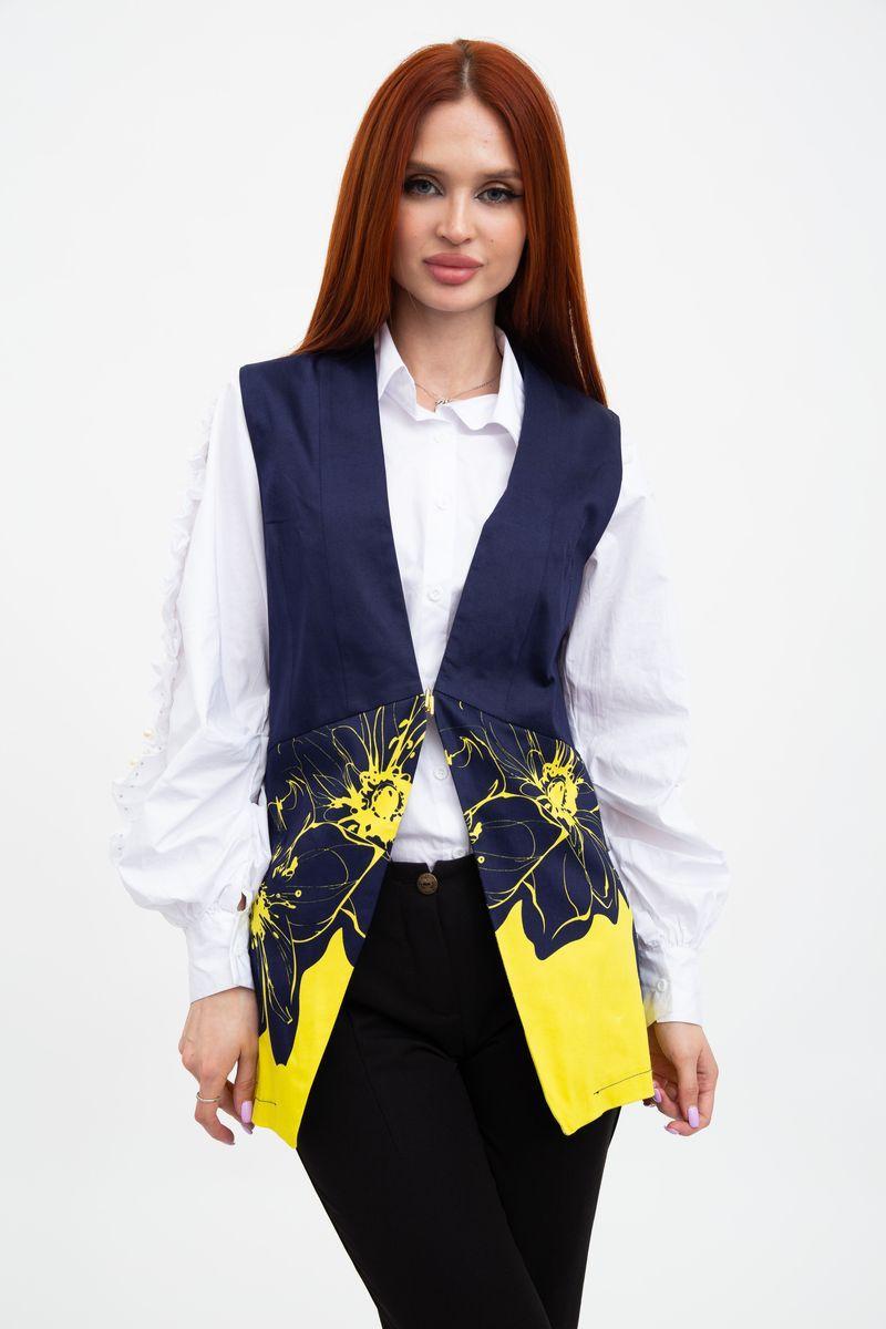 Жилет женский 115R253F цвет Сине-желтый