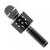 Беспроводной блютуз микрофон караоке 858 bluetooth черный