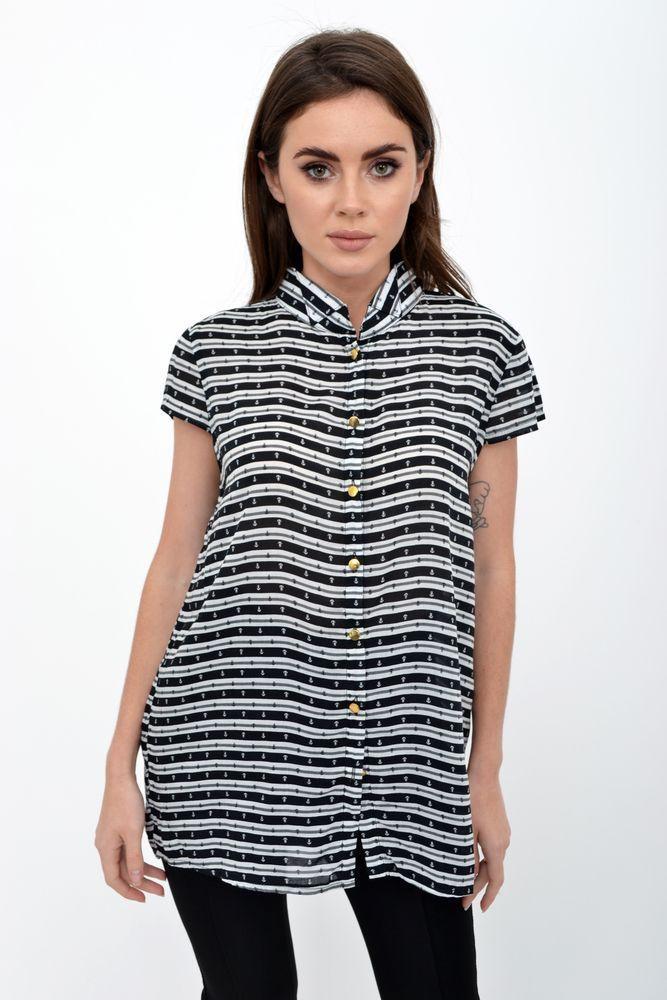 Блузка женская 115R191 цвет Черно-белый