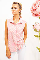Блуза 102R069-3 цвет Розово-белый, фото 1
