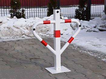 Барьер парковочный - треугольник Krosstech (белый)
