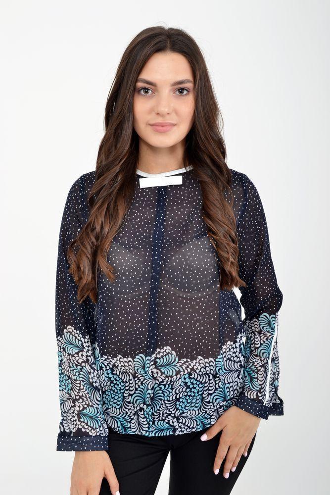 Блуза женская 115R036 цвет Темно-синий