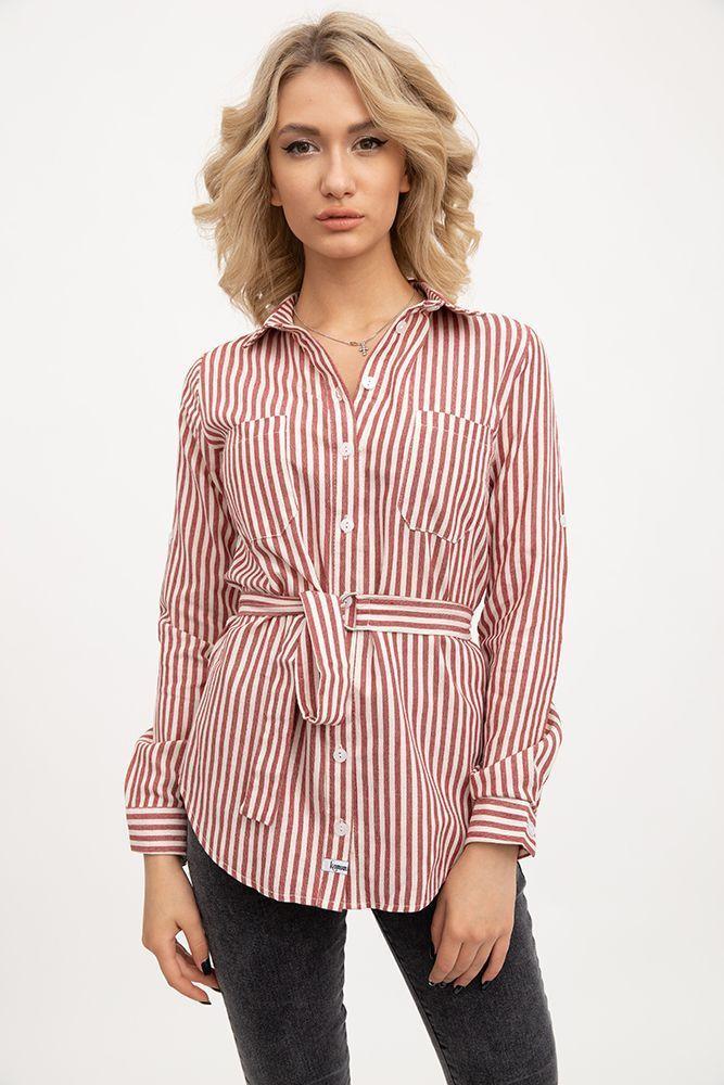 Рубашка женская 115R341R цвет Серо-красный
