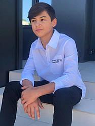 Сорочка біла вишита для хлопчика