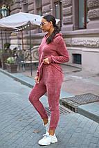 """Женский велюровый спортивный костюм """"FIFE"""" с капюшоном (большие размеры), фото 2"""
