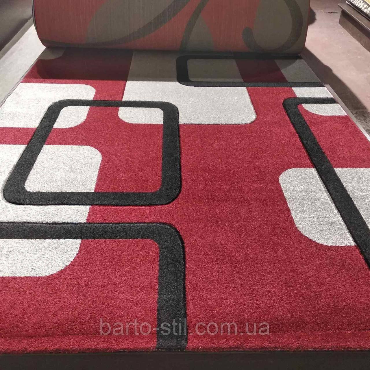 Ковер рельефный красный 2×4м.