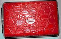 Портсигар красная кожа