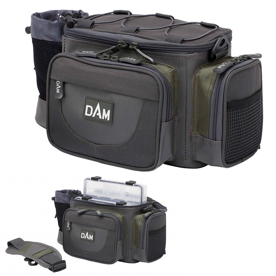 Сумка DAM Medium Hip&Shoulder Bag для рыбалки многофункциональная + 3 коробки 37x20х18 см