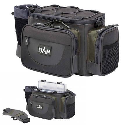 Сумка DAM Medium Hip&Shoulder Bag для рыбалки многофункциональная + 3 коробки 37x20х18 см, фото 2
