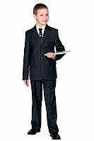 Школьный пиджак для мальчика черный рост 116 см