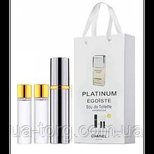 Парфюмерная вода мужская Chanel Egoiste Platinum, 3x15 мл