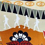 Палантин з віскози 10813-16, павлопосадский палантин з віскози, розмір 65х200, фото 4