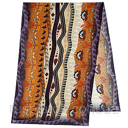 Палантин из вискозы 10813-16, павлопосадский палантин из вискозы, размер 65х200
