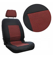 Авто чехлы в салон черно-красные Tuning А на небольшие сидения, фото 1